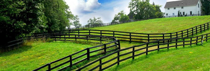 une clôture agricole